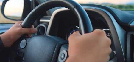 Steering wheel driving school