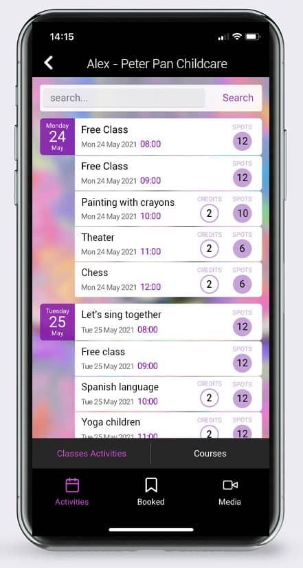 BookyWay Calendario app childcare