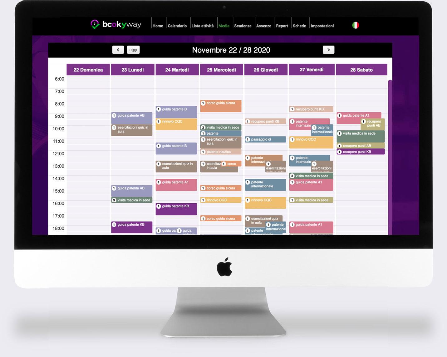 BookyWay calendario scuola guida